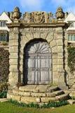 Old Ornate Doorway. View of a Beautiful Old Ornate Doorway Royalty Free Stock Images