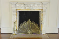 Old Ornate Fireplace Stock Photos