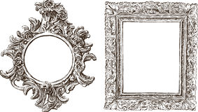Old ornate frames Royalty Free Stock Images