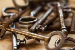 Old, ornate keys Stock Photos
