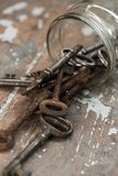 Old, ornate keys Stock Images