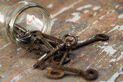 Old, ornate keys Stock Photos