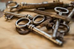 Old, ornate keys Royalty Free Stock Photos