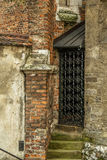 Old ornate metal door. Ornate metal door. Old Town in Cracow. Poland royalty free stock photography