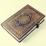 Old ornate notebook Stock Images