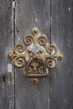 Old ornate rusty door knocker Royalty Free Stock Photo
