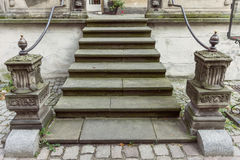 An old, ornate staircase to the historic building Royalty Free Stock Photography