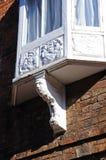 Old ornate window frame, Lichfield. Stock Photography