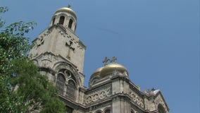 Old orthodox architecture of Varna, Bulgaria stock video footage