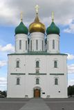Old orthodox cathedral. With golden domes Royalty Free Stock Photos