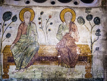 Old Orthodox Cave Mural Royalty Free Stock Image