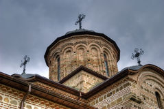 Old Orthodox Christian church. Facade and bell tower of a very old Orthodox Christian church Stock Photography