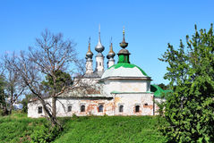 Old orthodox church. Church of Jesus' triumphal entry into Jerusalem (1702-1707) in Suzdal, Russia Royalty Free Stock Image