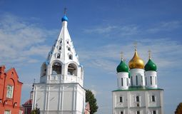 Old orthodox church and bell tower. Kremlin in Kolomna, Russia Royalty Free Stock Photography