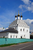 Old orthodox church. Blue sky with clouds. Kremlin in Kolomna, Russia. Royalty Free Stock Image