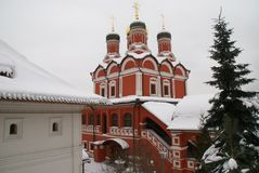 Orthodox Church in Moscow. Old Orthodox Church in the center of Moscow in Zaryadye Park Royalty Free Stock Photography