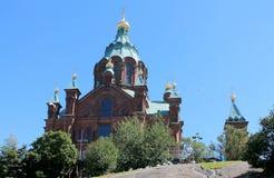 OLD ORTHODOX CHURCH IN HELSINKI Stock Photo