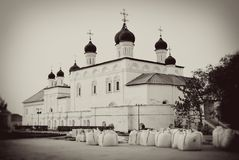 Old orthodox church. Kremlin in Astrakhan. Stock Photo