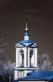 Old orthodox church in Moscow, infrared view Stock Images
