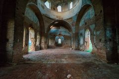 Free Old Orthodox Church Ruins. Abandoned Religionic Building Stock Photography - 156299632