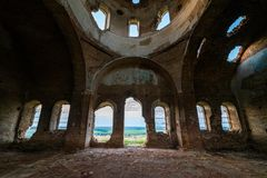 Free Old Orthodox Church Ruins. Abandoned Religionic Building Stock Images - 156299654