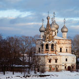 Old orthodox church. Russian winter Stock Photos