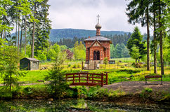 Old orthodox church in Sokolowsko, Poland Stock Images