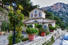 Old orthodox church of St. George in Crete, Greece royalty free stock images
