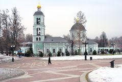 Old orthodox church. Tsaritsyno park in Moscow Royalty Free Stock Photography