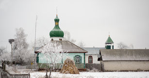 The old Orthodox church in the village Royalty Free Stock Photos