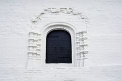 Old orthodox church window. Kremlin in Kolomna, Russia. Royalty Free Stock Photo