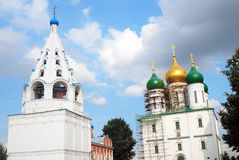 Old orthodox churches. Kremlin in Kolomna, Russia. Royalty Free Stock Photo