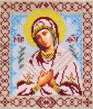 Old orthodox icon. Orthodox religious Icon of saint Mother of God (Mary Stock Photo