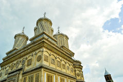 Old orthodox monastery. Curtea de Arges monastery in Romania with beautiful architecture Stock Photography