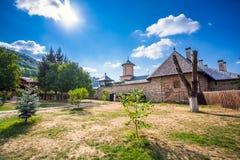 Old orthodox monastery from Polovragi Stock Image