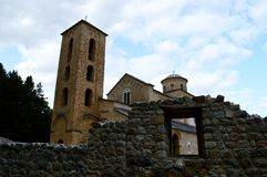 Old Orthodox monastery in Serbia. The old Orthodox monastery in Serbia stock photo