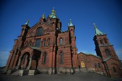 Old orthodox Uspenski cathedral in the capital of Finland Royalty Free Stock Image