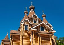 Old orthodox wooden church Stock Photo