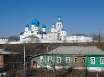 Old orthodoxy temple. Is in Bogolyubovo from Russia Stock Images