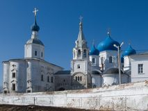 Old orthodoxy temple. Is in Bogolyubovo from Russia Royalty Free Stock Photo