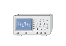 Old oscilloscope. Old electronic oscilloscope vector image Royalty Free Stock Photography