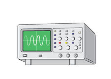 Old oscilloscope2 Royalty Free Stock Images