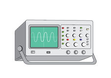 Old oscilloscope3. Old electronic oscilloscope vector image Stock Photo