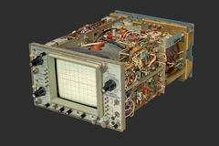 Old oscilloscope. Stock Photos