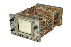 Old oscilloscope. Royalty Free Stock Photos