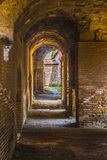 Old ostia in rome building historic. Ostia Antica in Rome with sun Stock Image
