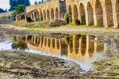 Old Ottoman aqueduct Stock Photo