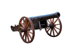 Old ottoman cannon on white background Royalty Free Stock Photography