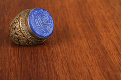 The old Ottoman ring from Anatolia Stock Image