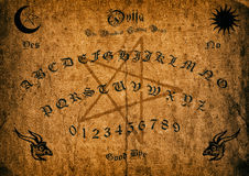 Old Ouija Board. Old-antique Ouija Borad background Royalty Free Stock Image